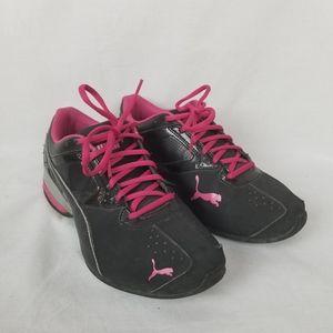 Puma Tazon 6 Athletic shoes sz 9 black/pink